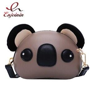 Image 1 - Fashion and Cute Koala Design Pu Leather Female Purses and Handbags Shoulder Bag Crossbody Mini Bag Women Clutch Bag Pouch
