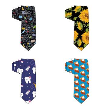 8cm śmieszne krawaty klasyczne męskie granatowe szczupłe krawaty ślubne poliestrowe męskie 3D drukowane krawaty na szyję akcesoria imprezowe tanie i dobre opinie WOMEN Moda COTTON Poliester CN (pochodzenie) Dla dorosłych Szyi krawat Jeden rozmiar ZJQ2-LD111 Drukuj 3D Printed