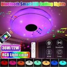 72W 256 couleurs moderne rvb LED plafonnier éclairage à la maison APP bluetooth musique lumière chambre Smart plafonnier + télécommande