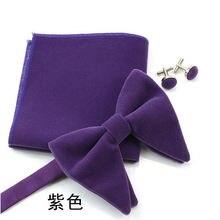 12x10 см большой галстук бабочка набор мужской фланелевый бархатный
