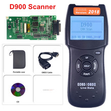 A + jakość V2018 D900 samochodów skaner OBD2 czytnik kodów narzędzia diagnostyczne skaner kodów OBD2 CANBUS czytnik Tester błędów pojazdu tanie tanio OBDIICAT D900 V2015 Czytniki kodów i skanowania narzędzia