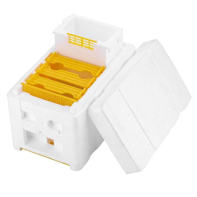 Bee Hive Box Harvest Beekeeping King Pollination Tool Solid Cedar EPS Supplies Kit