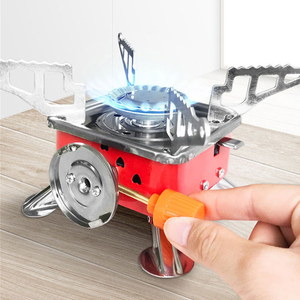 New Outdoor Gas Burner For Camping Stove Lighter Tourist Equipment Kitchen Cylinder Propane Grill Powerful Wind Proof