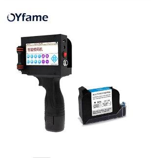 OYfame Handheld Printer Portable Touch Screen Mini Printer For Carton Paper Plastic Wood Metal QR Code Label Inkjet Printer