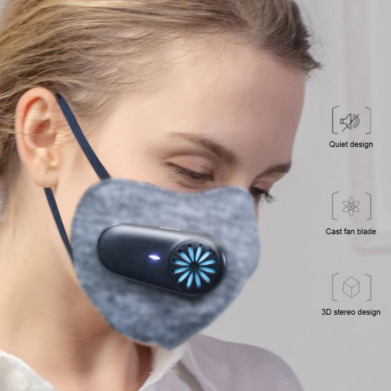 1pc usb portátil wearable pessoal purificador de ar mini respirador elétrico ar nenhuma radiação de baixo nível de ruído carbono proteger camada