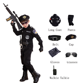 Children Halloween Policeman Costumes Kids Party Carnival Police Uniform 110-160cm Boys Army Policemen Cosplay Clothing Sets - discount item  41% OFF Costumes & Accessories