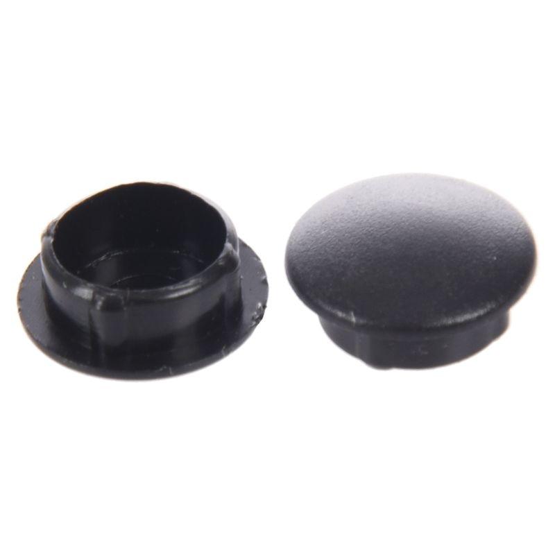 Fashion10 Pcs Plastic 10mm Diameter Flush Mounted Tube Insert Caps Cover Black