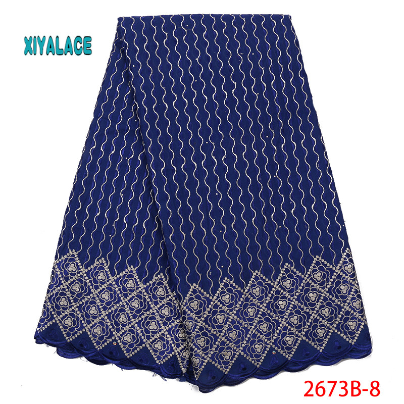 Best Selling Swiss Voile Lace Fabric 2019 High Quality Lace African Dresses For Wedding Lace Cotton Lace Party Dress YA2673B-8