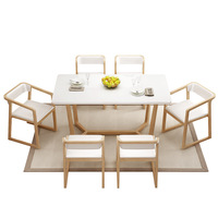אמריקאי אוכל שולחן וכיסא שילוב מוצק עץ מלבני אלון הרכבה מערבי אוכל שולחן קטן דירה אוכל tabl-בשולחנות אוכל מתוך ריהוט באתר