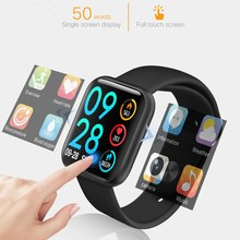 Smart Watch Full Touch Blood Pressure Dynamic Heart Rate Monitor Sleep Tracker Health Smartwatch Men Women for iOS Android Phone(China)
