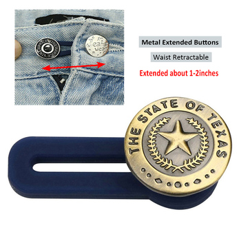 No Sewing Snap Metal Retractable Buttons for Clothing Jeans Adjustable Waistline Increase Waist Fastener Extended Button