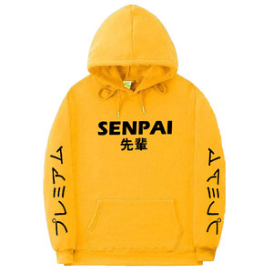 Image 4 - Moda japońska moda uliczna SENPAI bluza z kapturem wielu kolor mężczyźni kobiety swetry sweter sudadera hombre