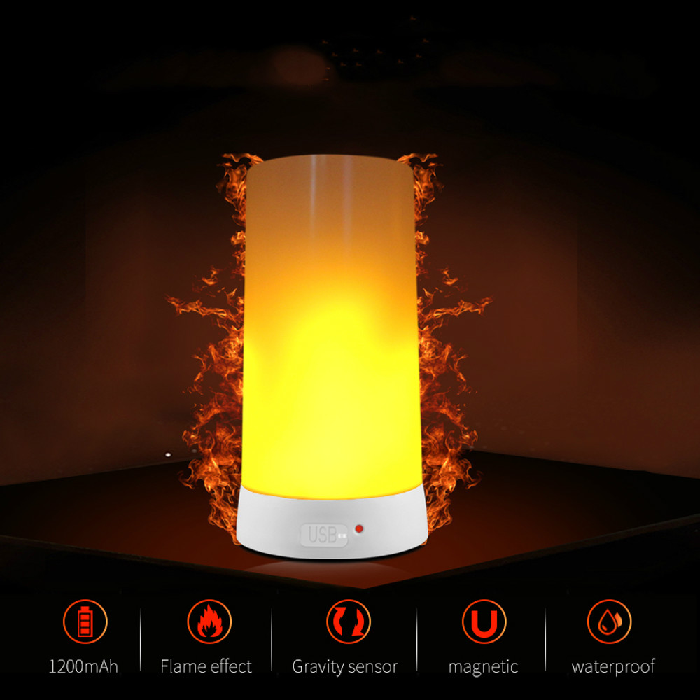 LED Flame Effect Light Bulb E27 Led Dynamic Flame Emulation Decor Lamp Rechargeable Fire Flickering Night Lampada Led Ampoule 9W