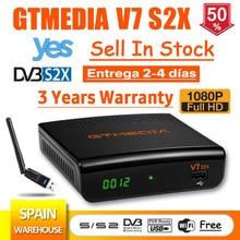 1080P GTmedia V7 S2X DVB-S2 Satellite Receiver with usb wifi FTA gtmedia v7s2x Digital Receptor Upgraded gtmedia v7s HD no app