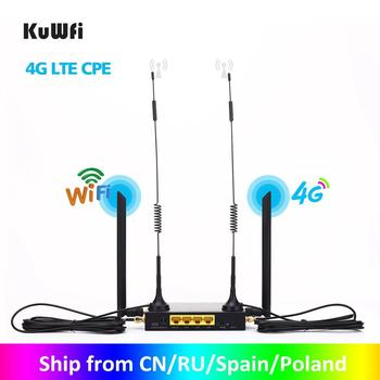 KuWFi Router 300Mbps Industrial Router CAT4 4G CPE Router Extender Strong Wifi...