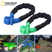 Synthetic Soft Shackle Rope Winch Towing Rope 38,000 lbs Breaking for 4x4 suv atv truck pickup recovery offroad
