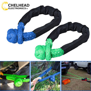 Image 1 - Synthetic Soft Shackle Rope Winch Towing Rope 38,000 lbs Breaking for 4x4 suv atv truck pickup recovery offroad