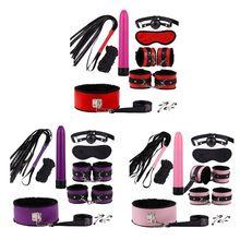 NoEnName_Null Dildo Vibrator & Anal Plugs Adult Sex Product Kit Massager BDSM Slave Bandage Q1QB
