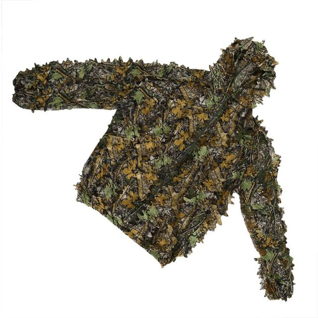 Hunting clothes New 3D maple leaf Bionic Ghillie Suits Yowie sniper birdwatch airsoft Camouflage Clothing jacket and pants 3