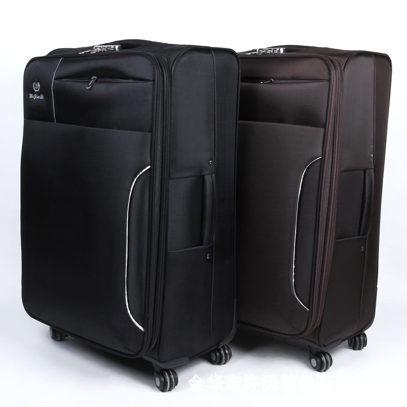 Sandwich Zipper Waterproof Travel Trolley Luggage 360 Degree Swivel Suitcase Wheel Solid Color Shang Wu Xiang Manufacturers Dire