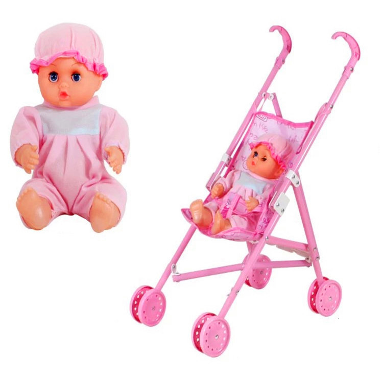 Children's Gifts, Trolley Toys, Baby Girls Passing Home With Dolls Kids Shopping Cart Pink Color Toy Cart