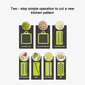 Image 2 - Multi funzione di Taglio di Verdure Mandoline Affettatrice della Frutta della Taglierina Della Patata Peeler Carota Grattugia di Verdure Affettatrice Per La Cucina