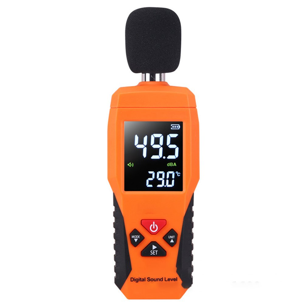 Digital Sound Level DB Meters 30dB~130dB Decibe Noise Logger Detector Diagnostic Tool Temperature Tester With Backlight Hot