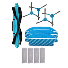 SANQ Roller Main Side Brush Filter Cloth Kit for Cecotec Conga 3490 Robot Vacuum Cleaner Spare Parts Replacement