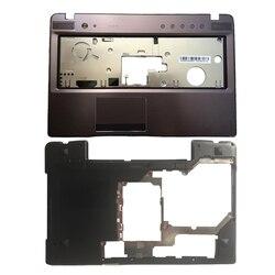 Keyboard baru Untuk Lenovo Z570 Z575 Bezel Palmrest Kasus Atas/Laptop Bawah Basis Kasus Cover