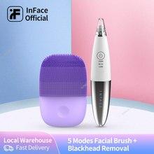 Inface-Cepillo de limpieza facial eliminador de espinillas, eliminación de acné, cuidado de la piel, poro y espinillas, versión mejorada