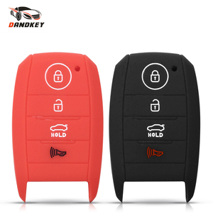 Dandkey силиконовый чехол для ключей от машины Fob 4 кнопки резиновый чехол для Kia Squeak K5 2014 2015 2016 K3 k3S K4 Optima Sportage Rio Sorento