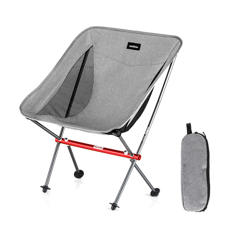 Hiking Fishing Chair Ultralight Portable Folding Camping Chair Foldable Beach Chair Picnic Chair Collapsible Outdoor Gray Chair