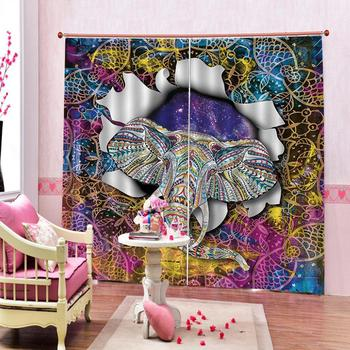 elephant curtains Luxury Blackout 3D Window Curtains For Living Room Bedroom Customized size