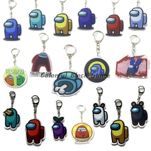 Keychain Among Us Gift Children Toy-Game Acrylic Various-Patterns