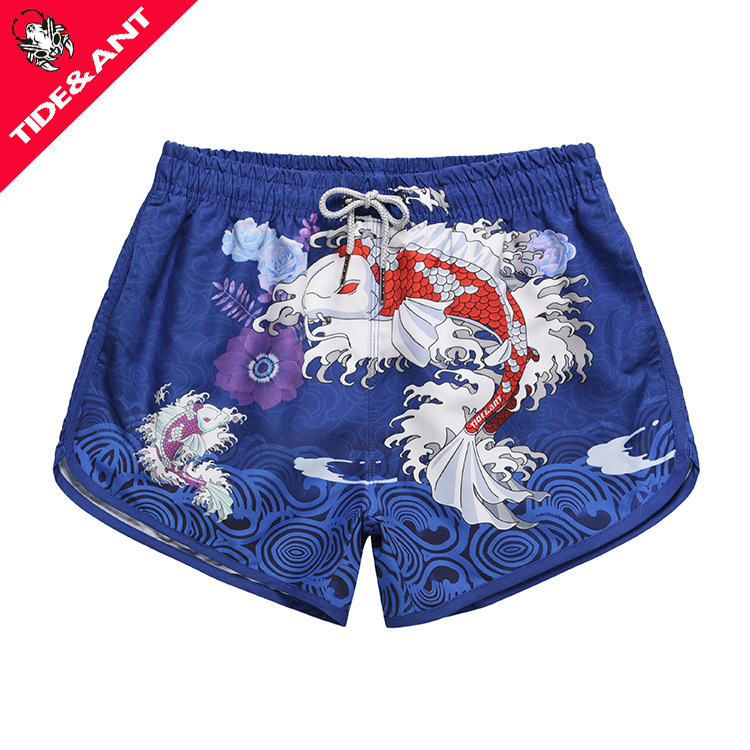 Beach Shorts Women's Seaside Holiday-Sewer Quick-Dry Shorts Loose-Fit Swimming Trunks Speed Popular Brand Couple Clothes Flower