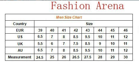 男运动鞋尺寸