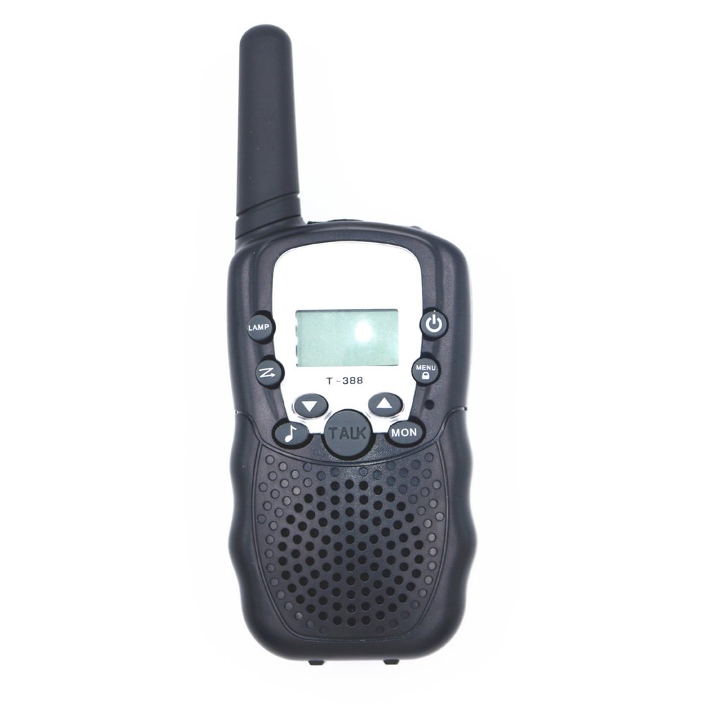 T388 UHF Two Way Radio Portable Handheld Children's Walkie Talkie With Built-in Led Torch Mini Toy Gifts For Kids Boy Girls