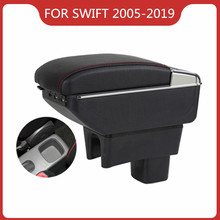 CAR ARMREST FOR SUZUKI MK3 MK4 SWIFT 2005-2019 Car Accessories Console Box Center Arm Rest With Cup Holder Ashtray Storage Box armrest for renault logan 2004 2019 car arm rest central console leather storage box ashtray accessories car styling