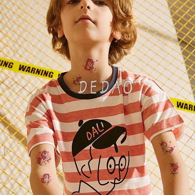 10pcs Kids Tattoo Temporary Tattoos Cartoon Unicorn Horse Fake Tattoo Sticker Waterproof Tatto Art Tatoo Hand Arm For Child Boy 6