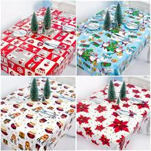 PVC Table Cloth Noel 2019 Merry Christmas Decor For Home Gift Items Product Ornament New Year 2020