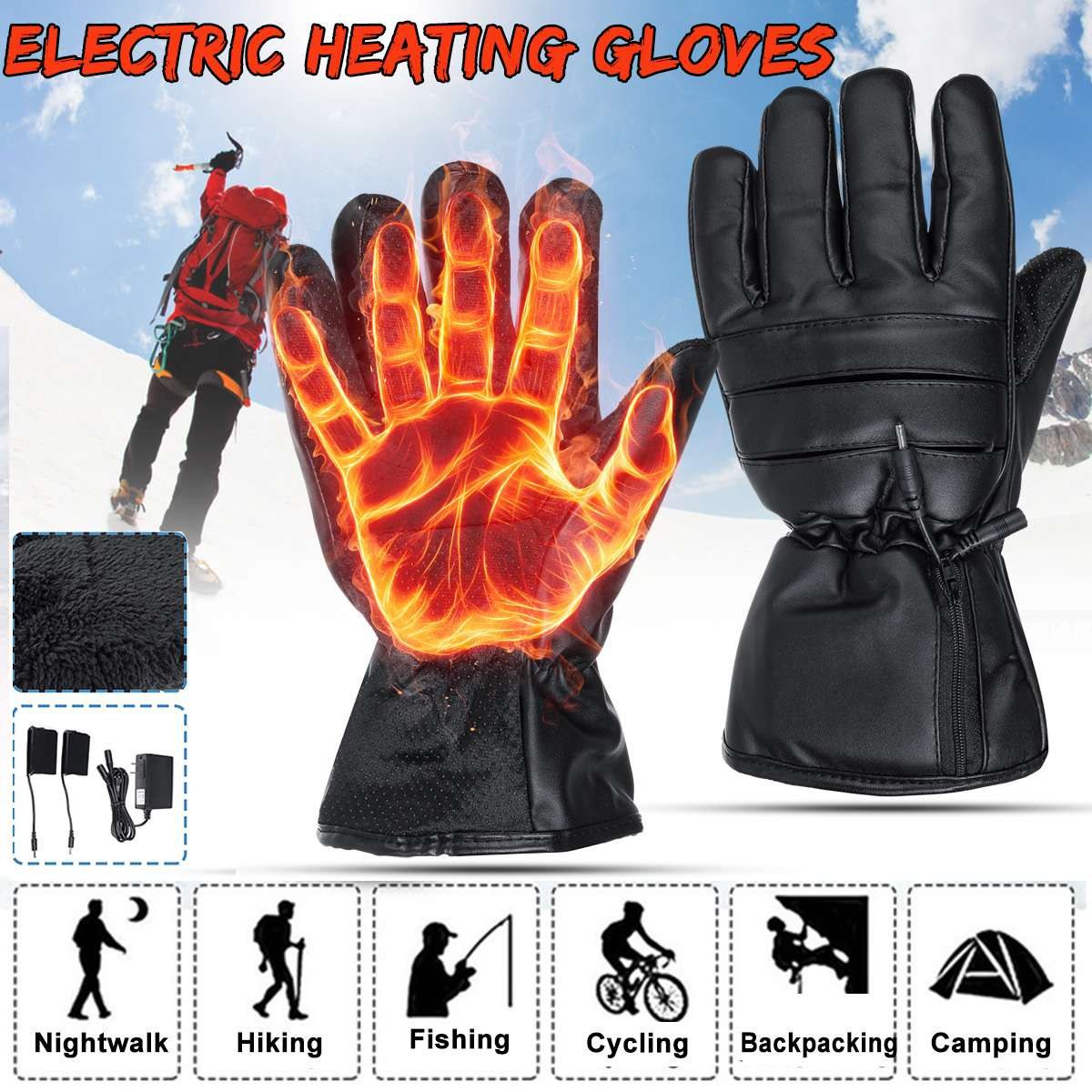Windproof Ski Gloves Waterproof Gloves With Touchscreen Function Snowboard Heated Gloves Warm Snowmobile Snow Gloves Men Women