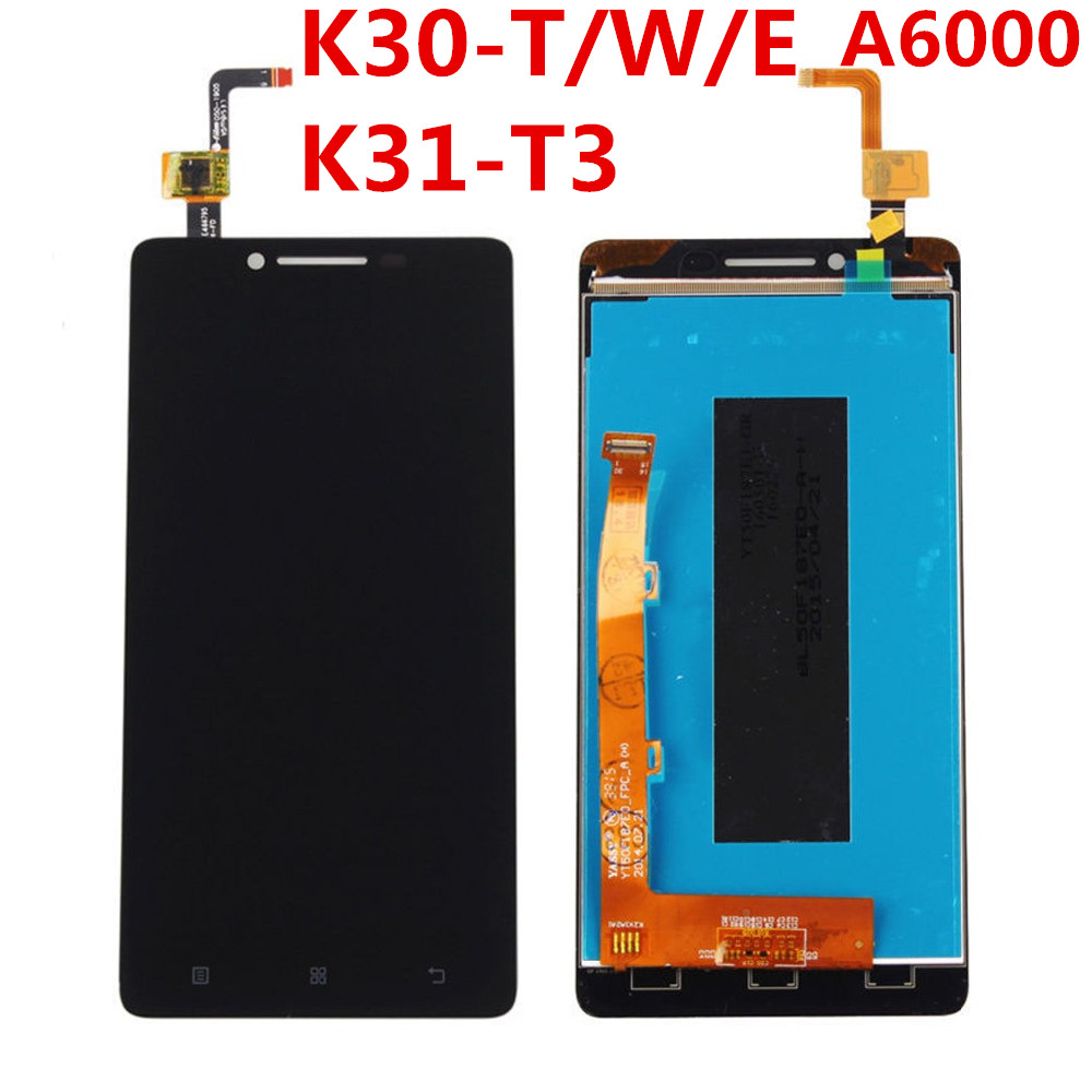 For Lenovo  K31-T3 Lcd Display Touch Screen Assembly With Frame Lenovo A6000 LCD K3 K30-T