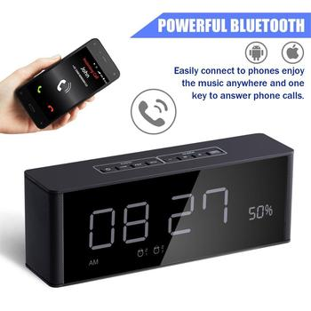 Multifunctional Portable Bluetooth Speaker Subwoofer Wireless Stereo Speaker Supports Mobile Computer TF AUX Mirror Alarm Clock
