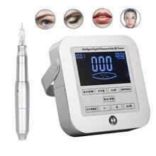 BIOMASER 2019 maszynka do tatuażu permanentnego do makijażu oczu Lip Rotary Pen System MTS PMU z wkładami igła do tatuażu