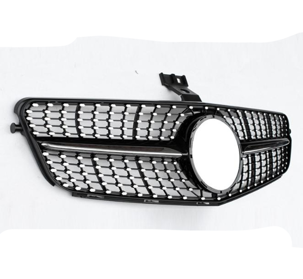 Front Grill For <font><b>Mercedes</b></font> Benz C CLASS W204 C180 C200 <font><b>C300</b></font> Diamond Black AM 2008 2009 2010 2011 <font><b>2012</b></font> 2013 2014 image