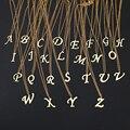 DOTIFI для женщин A-Z буквы алфавита ожерелья с подвесками Персонализация из нержавеющей стали ожерелье очарование ювелирные изделия