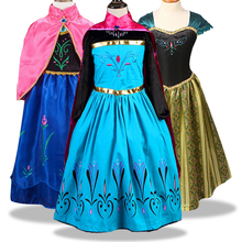 цена на Baby Girls Dress Christmas Anna Elsa Cosplay Costume Summer Dresses Girl Princess Elsa Dress for Birthday Party Vestidos Menina