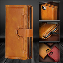 For iPhone SE 2020 Case Luxury Leather Wallet + Silicone Flip Cover Apple iPhone SE 2020 Cover Stand Card Slot Phone Bags Case