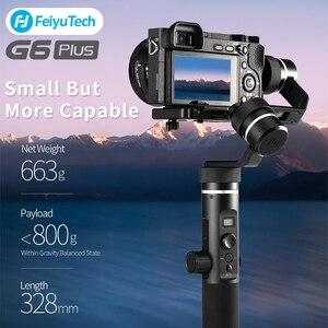 FeiyuTech G6 Plus микро стабилизатор для камеры с одной ручкой 3 A-aix Gimbal для смартфона GoPro Video Action