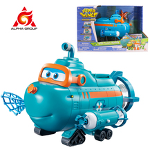 Super Wings Wild Team Buddy Beach Water With Lights & Music Water Proof Submarine Figure Big Playset Kids Toys For Children Gift